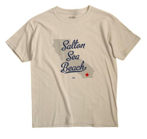 Salton Sea Beach California CA Calif T-Shirt MAP