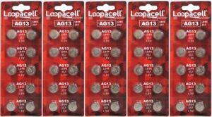 50-LR44-AG13-357-357A-A76-303-L1154-1-5-Volt-Alkaline-Batteries-Ships-From-USA