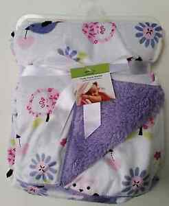 Newborn Baby Bedding Blanket Fleece Elephants Birds Flowers