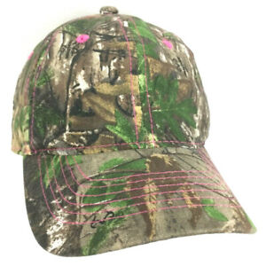 b461e2d4f Realtree Hat Women's Camouflage Cap Woodland Camo Embroidered Pink ...