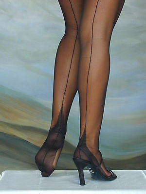 ELEGANTI FULLY FASHIONED STOCKINGS POINT HEEL IMPERFECTS CLEARANCE SALE WAS £11