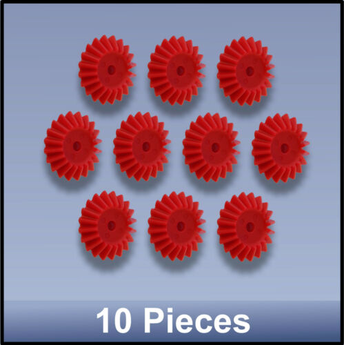27 MM 20 TOOTH MODULE 1 BEVEL PRECISION MOULDED PUSH-FIT NYLON GEAR 10 pieces