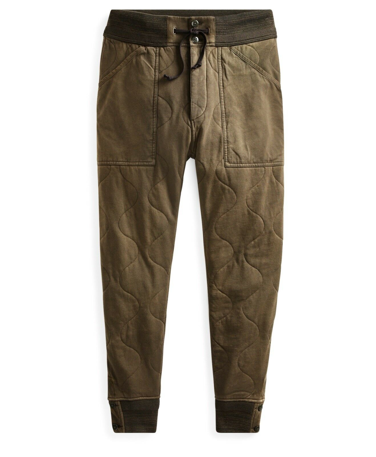RRL Ralph Lauren WWII Military Inspired Onion Quilted Cotton Jersey Sweatpant- M