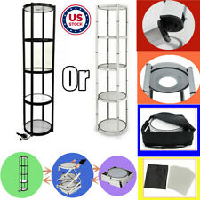 Usa 81 Round Portable Folding Spiral Tower Display Case For Trade Show Store