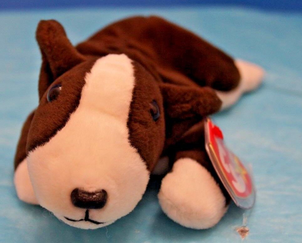 dab9b398d9d TY Beanie Baby BRUNO The Bull Terrier Rare Tag Errors Retired.  nfubhm2239-Toys   Hobbies