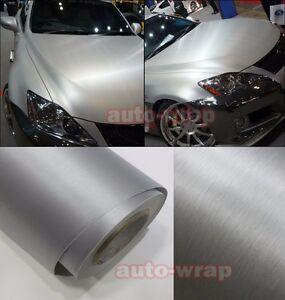 All the Wrap - Car Metallic Matte Brushed Silver ALUMINUM Vinyl Sticker Decal BO