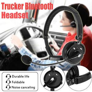 999ce0f6023 Pro Trucker Driver Over The Head Boom bluetooth Headset Wireless ...
