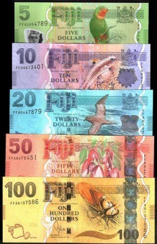2012 FIJI 2013 5;10;20;50;100 dollars P-New,SUPERB UNC /> New Design SET