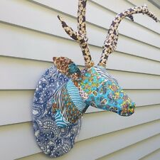 """SALE"" 20% OFF Deer head, animal, handmade, paper mache/fabric, unique, decor"