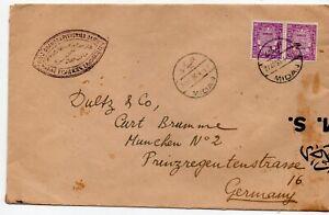 POSTAL-HISTORY-STATIONERY-RARE-LETTER-EGYPT-TO-GERMANY-ON-21-04-1936-z
