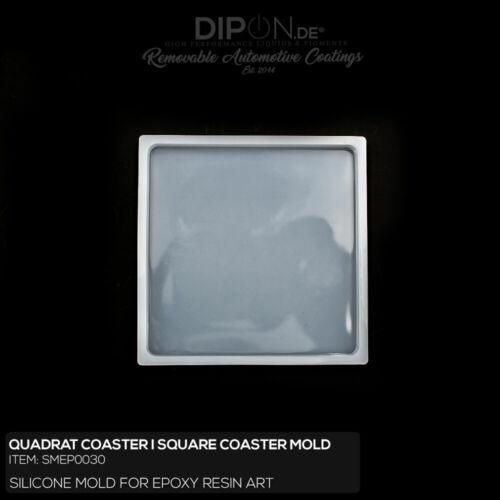 Epoxidharz Silikonform Quadrat Coaster Square Gießform Epoxy Resin Silicone Mold