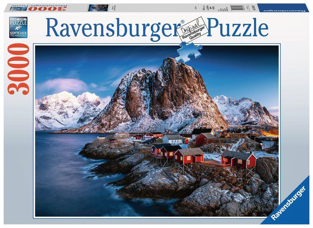 Ravensburger 17081 - Hamnoy, Lofoten, 3000 Pieces Puzzle, Nip