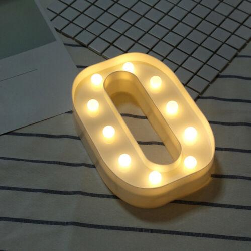Alphabet LED Letter Lights Light Up White Plastic Letters Standing Hanging Gift