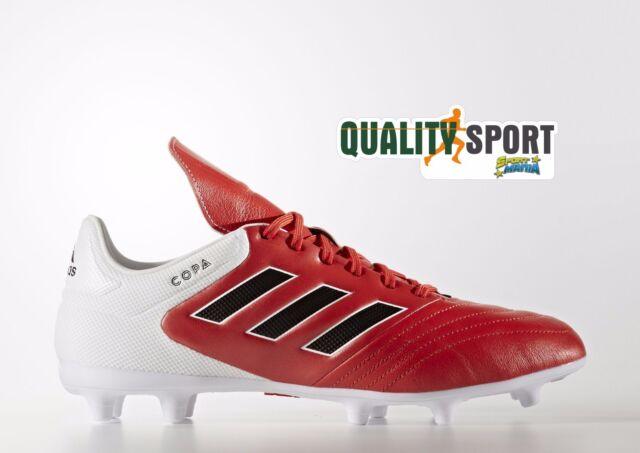 e3d79b1822386 Adidas Copa 17.3 FG Rosso Bianco Scarpe Uomo Sportive Calcio BB3555