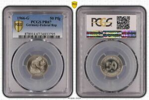 50 Pfennig Currency Coin 1966 G Proof PCGS Certified PR67