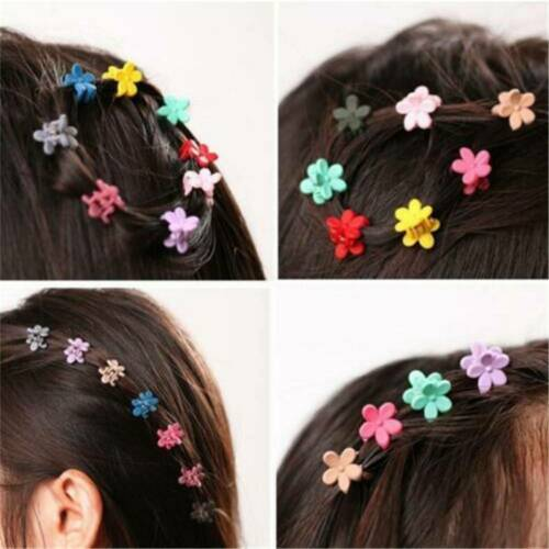 30 PCS Plastic Kids Baby Mini Claw Girls Hairpins Flower Hair Clips Clamp Lots