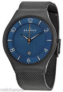 Skagen-SKW6147-Grenen-Blue-Dial-Black-Titanium-Men-039-s-Watch