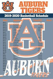 Details About Auburn Tigers Basketball Schedule 2019 Poster