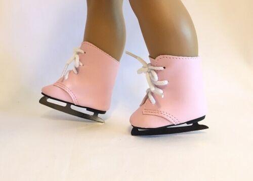 "Pink Ice Skates for 18/"" American Girl Doll Skates Doll Skating Doll Ice Skates"