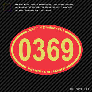 United States Marine Corps Mos 0369 Infantry Unit Leader Red Oval