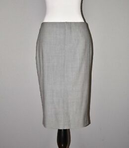 BANANA-REPUBLIC-NEW-98-Gray-Lightweight-Wool-Pencil-Skirt-Knee-Length-Size-2
