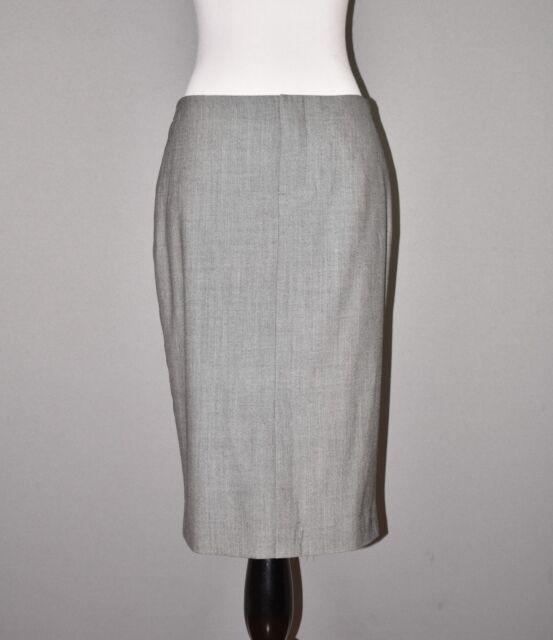 BANANA REPUBLIC NEW $98 Gray Lightweight Wool Pencil Skirt Knee Length Size 2