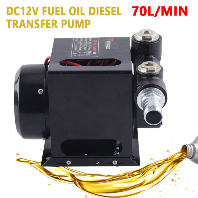 12V 3//4HP Heavy Duty Fuel Oil Diesel Transfer Pump Rated 70L//M Continuous 550W