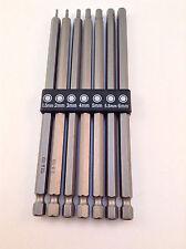 7pc Long Reach Metric Hex Bit Set - Heat Treated Chrome Vanadium Steel