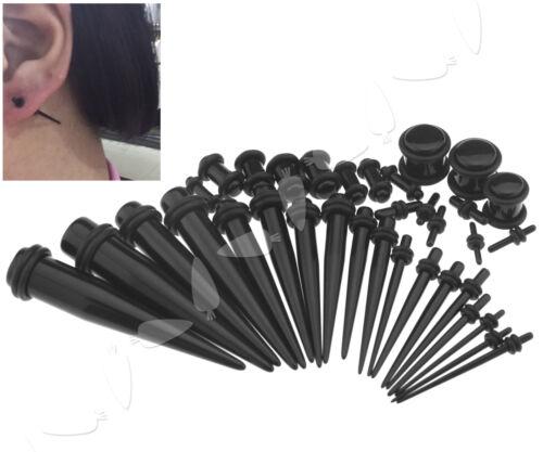 36Pcs Acrylic Ear Plugs Expander Kit Taper Stretcher Gauges Stretching Set