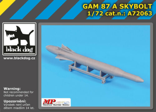 Black Dog A72063 Resin 1//72 Douglas GAM 87 A SKYBOLT air launched missile