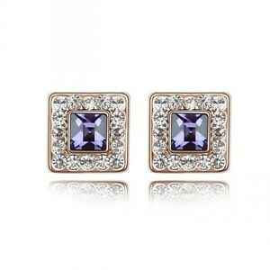 GORGEOUS-18K-GOLD-PLATED-PURPLE-AND-CLEAR-GENUINE-CUBIC-ZIRCONIA-STUD-EARRINGS