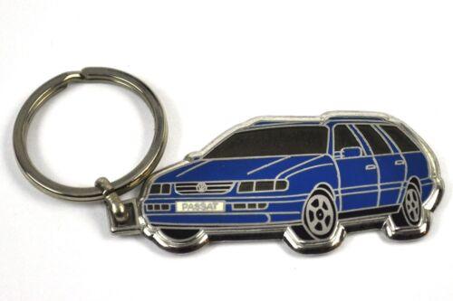 VW Passat blau Auto Metall Schlüsselanhänger Volkswagen Car Key Chain