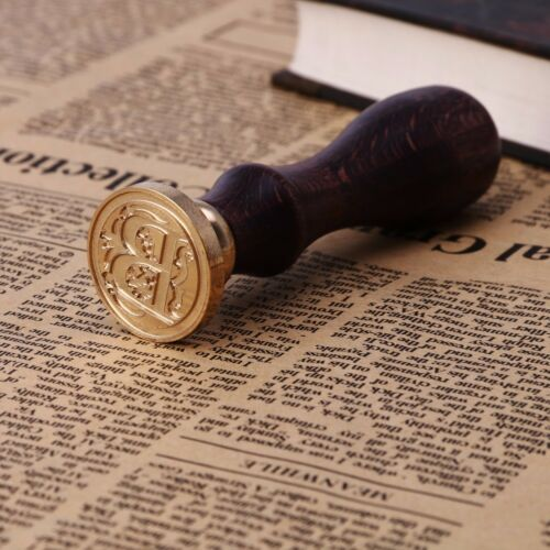 Vintage Sealing Wax Classic Initial Wax Seal Stamp Alphabet Letter 26 Wood