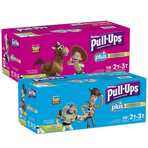 Huggies Pull Ups Plus Training Pants for Boys Girls CHOOSE SIZE *Free Shipping*