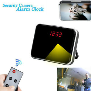 5MP HD Hidden Camera Video Motion Detection Alarm Clock Mini DV DVR Remote New