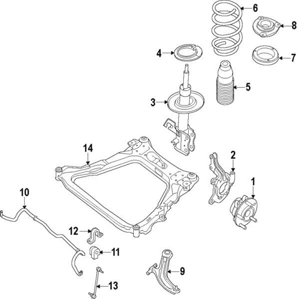 Nissan E4302-5HA3A Strut Kit Ft Rh