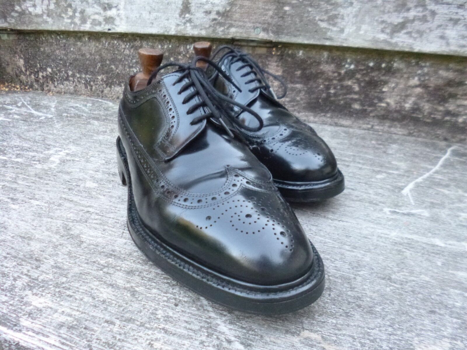 CHEANEY / CHURCH BROGUES – BLACK - KINGSTON UK 7.5 – KINGSTON - – GOOD CONDITION 096f1c