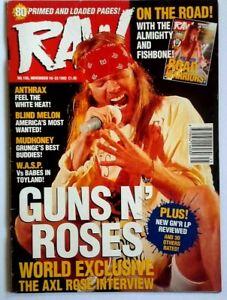 Raw-136-November-1993-Guns-N-Roses-Many-Metal-Hammer-amp-Kerrang-mags-also-listed