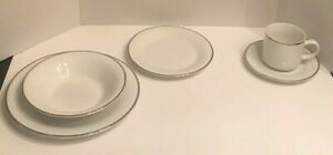 27 Piece Set Gibson Houseware China White with Gold Trim