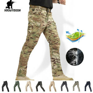Army-Mens-Cargo-Pants-Military-Tactical-Combat-City-Casual-Waterproof-Camouflage