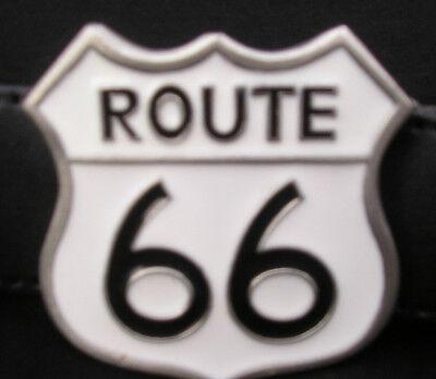 Buckle Route 66 boucle de ceinture biker US Highway vintage Mother Road