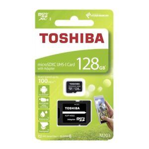 Sd Karte Micro.Details About 128gb Sdxc Micro Sd Karte Toshiba Class Klasse 10 Mikro Adapter Card Uhs 128 Gb