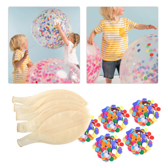 "5stk 36"" Latex Luftballon + Konfetti Klar groß Ballon Hochzeit Party Deko NEU"