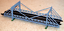 1-32-Scale-Suspension-Bridge-Kit-for-Scalextric-Other-Static-Layouts miniatura 1