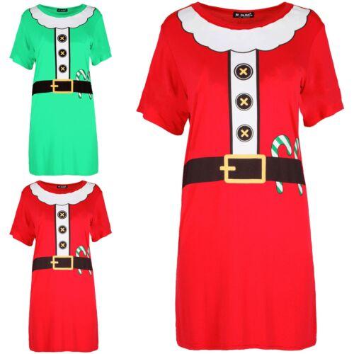 Femme Barbe Noël Ceinture Santa Père Costume Costume Femmes Baggy T Shirt Robe longue