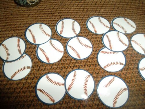 FREE SHIP Pre Cut One Inch BASEBALL images