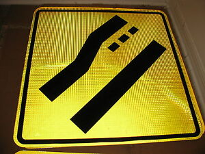 30X30 AUTHENTIC LEFT TURN STREET SIGN 3M HIGH INTENSITY REFLECTIVE TRAFFIC ROAD