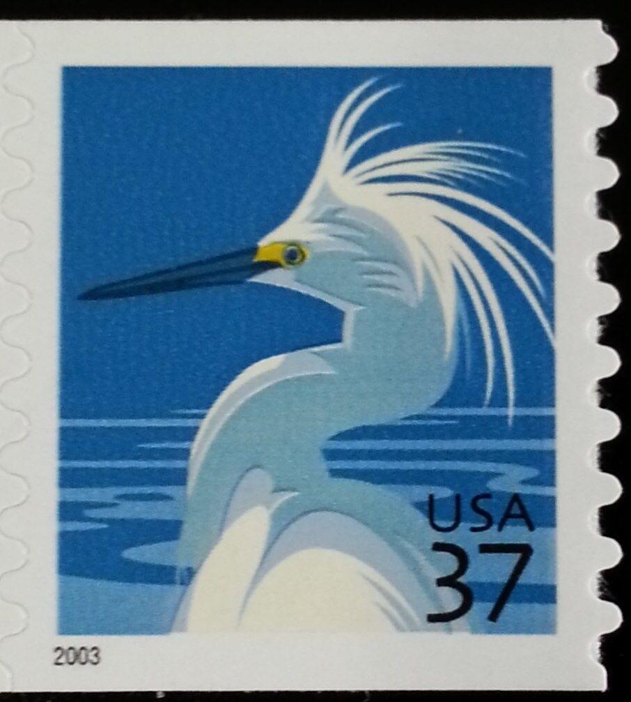 2003 37c Snowy Egret, Coil Scott 3829 Mint F/VF NH
