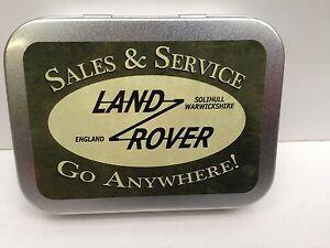 Land-Rover-Sales-amp-Service-Garage-Cigarette-Tobacco-Storage-2oz-Hinged-Tin