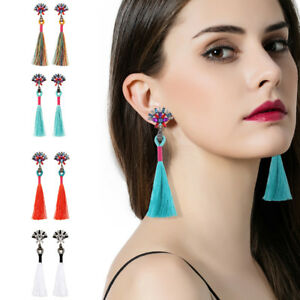 Women-Fashion-Bohemian-Earrings-Vintage-Long-Tassel-Fringe-Boho-Dangle-Earrings